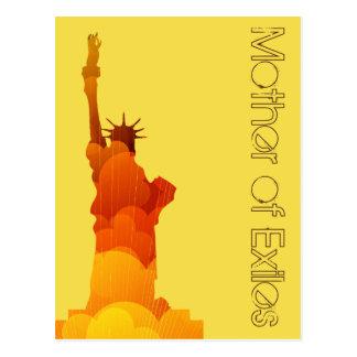 Mother of Exiles Retro Yellow Postcard
