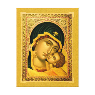 Mother of God Glykophilousa – Canvas Print