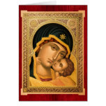 Mother of God Glykophilousa – Icon Greeting card