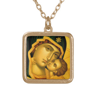 Mother of God Glykophilousa -- Icon Necklace