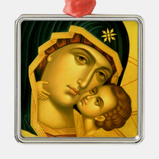Mother of God Glykophilousa -- Icon Ornament
