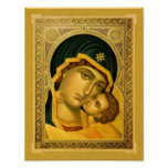 Mother of God Glykophilousa – Icon Poster