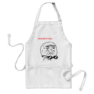 Mother of God Rage Face Comic Meme Standard Apron