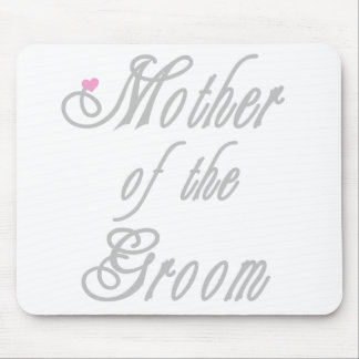 Mother of Groom Classy Greys Mouse Pad