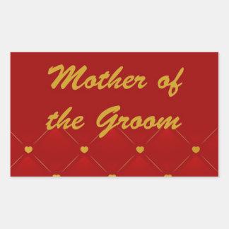 Mother Of Groom (r/g) Rectangular Sticker