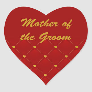 Mother Of Groom r g Heart Stickers