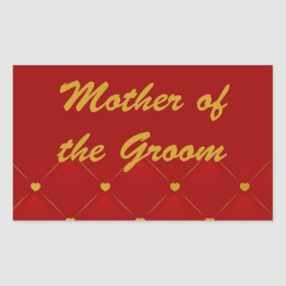 Mother Of Groom r g Stickers
