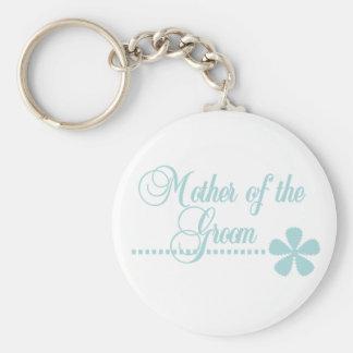 Mother of Groom Teal Elegance Key Chains