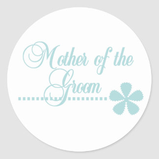 Mother of Groom Teal Elegance Stickers