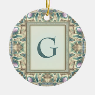 Mother of Pearl Christmas Ornament