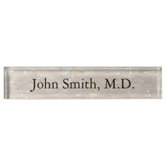 Mother of Pearl Customisable Name Plate