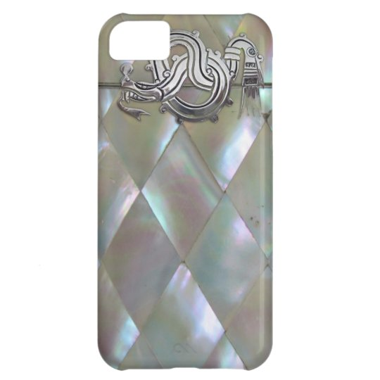 mother of pearl dragon iPhone 5C case