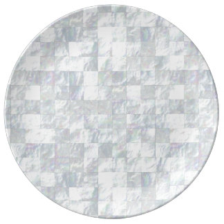 Mother Of Pearl Mosaic Porcelain Plates