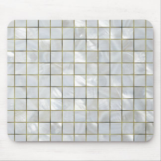 Mother of Pearl Mosaic with Gold Foil Grid Mouse Mat