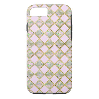 Mother of Pearl Pink Gold Diamonds Phone Case