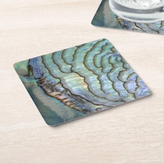Mother of Pearl Square Paper Coaster