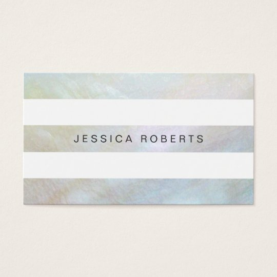 Mother of Pearl Stripes Elegant Simple Pattern Business