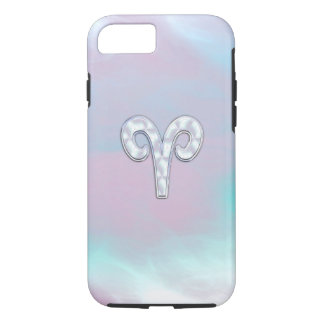 Mother of Pearl Style Aries Zodiac Symbol iPhone 7 Case
