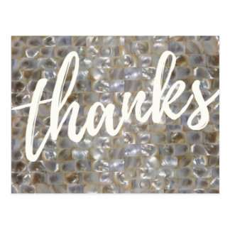 Mother of Pearl Thank You Postcard