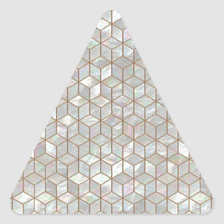 Mother Of Pearl Tiles Triangle Sticker