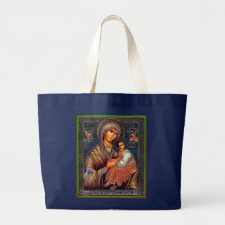 Mother of Perpetual Help Large Tote Bag