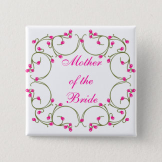 Mother of the Bride 15 Cm Square Badge