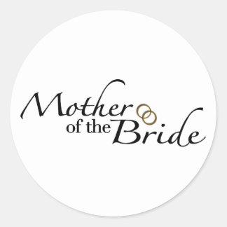 Mother Of The Bride 2 Round Sticker
