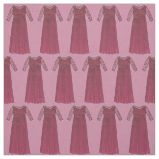 Mother of the Bride Burgundy Dress Wedding Fabric
