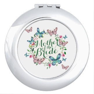 Mother of the Bride Butterflies Compact Mirror