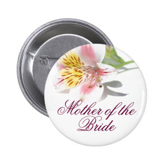 Mother of the Bride Button Peruvian Lilly