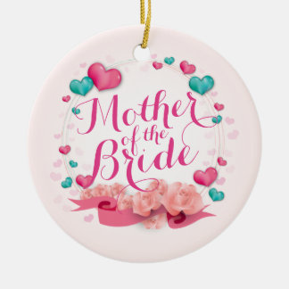 Mother of the Bride Candy Hearts   Ornament