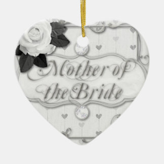 mother of the bride ceramic heart decoration