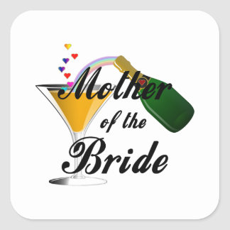 Mother Of The Bride Champagne Toast Square Sticker