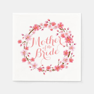 Mother of the Bride Cherry Blossom Wedding Napkin Disposable Napkin