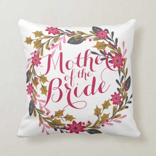 Mother of the Bride Christmas Wedding Pillow