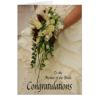 mother of the bride congratulations greeting card