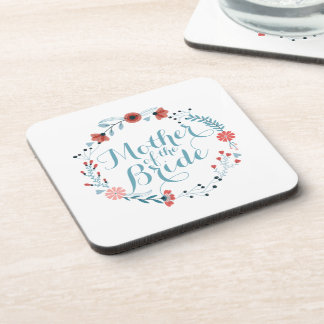 Mother of the Bride Cute Wreath Wedding Coaster