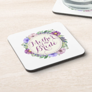 Mother of the Bride Elegant Floral Coasters