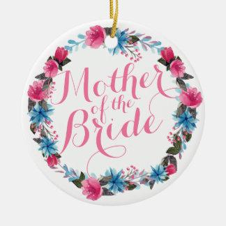 Mother of the Bride Elegant Floral Wedding Ornamen Christmas Ornament