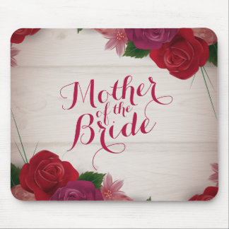 Mother of the Bride Elegant Wreath Mousepad
