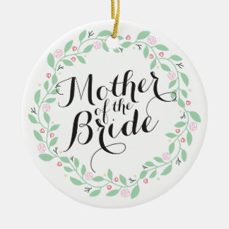 Mother of the Bride Elegant Wreath Wedding Ornamen Christmas Ornament