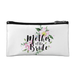 Mother of the Bride Floral Watercolor Wedding Cosmetic Bags