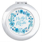 Mother of the Bride Floral Wedding Compact Mirror