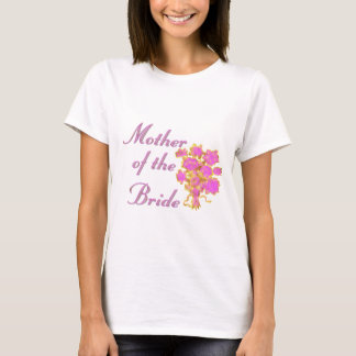 Mother Of The Bride Gold & Bouquet T-Shirt
