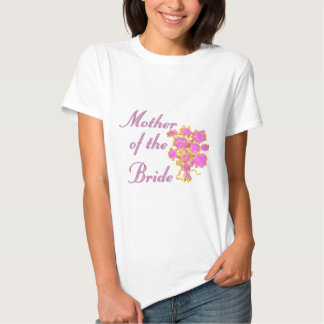 Mother Of The Bride Gold & Bouquet Tshirts