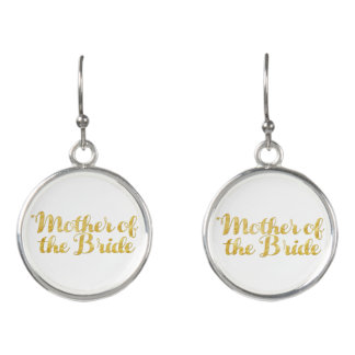 Mother of the bride gold earrings