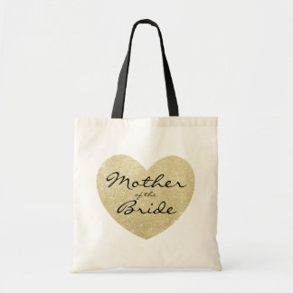 Mother of the Bride Golden heart Customize Tote Bag