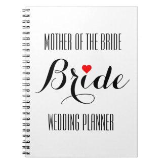 Mother of the Bride Heart Wedding Planner Notebook