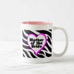 Mother of the Bride (Heart Zebra Stripes)