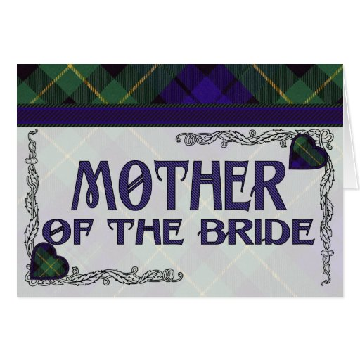 Mother of the Bride Invitation - Barclay Tartan Greeting Card